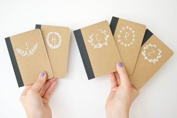 SET OF THREE Hand Illustrated Monogram Notebooks by ohNOrachio, £12.00