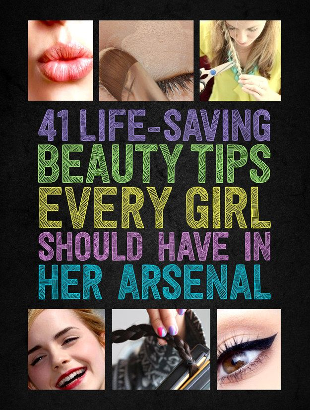 41 Life-Saving Beauty Hacks Every Girl Should Have In Her Arsenal...I think life-saving is a little dramatic, but helpful, yes