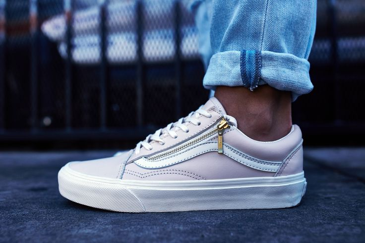 Vans Old Skool Leather Zip On-Foot Look