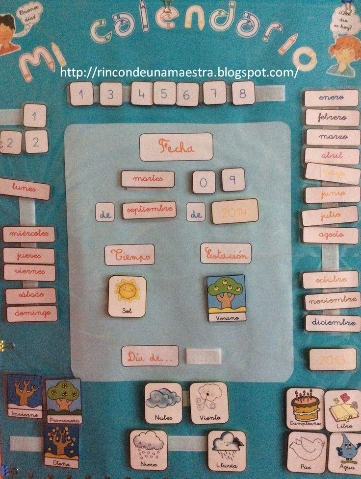 Rincón de una maestra: ¡VUELTA AL COLE! Un calendario para el día a día.....