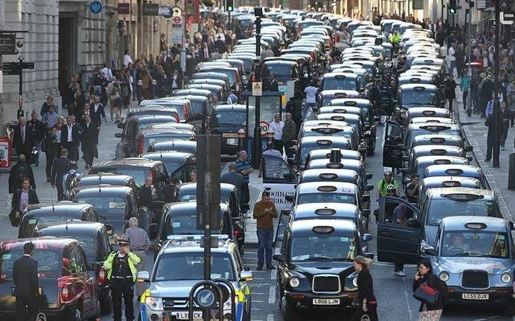 What the #Uber #protest looked like around the world. #AntiUber