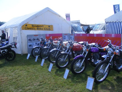 We are very pleased to welcome Bridport Classic Bike Club to the show again this year.