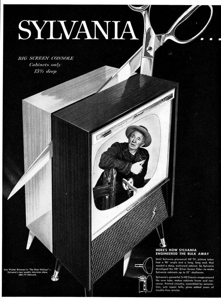 1957 Walter Brennan  The Real McCoys  Sylvania Television  Original  Magazine Ad