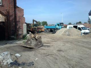 w trakcie przebudowy mostu w Malborku