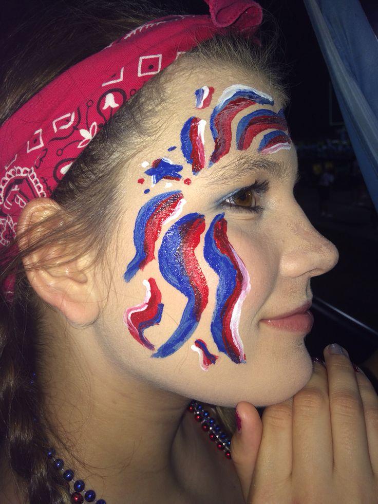 America Face Paint July 4th Fireworks Spirit Week