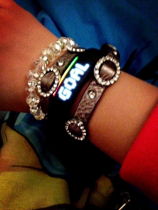 Nike Women fan Nerissa gets to goal in style. How do you? #fuelband #nikearmparty #armparty #nike