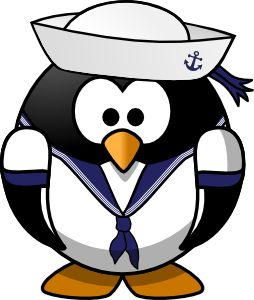 Sailor penguin by @Moini, This little penguin sails the seven seas and has weathered many a storm!