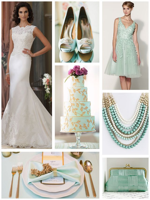 1000 images about mint green wedding on pinterest kathy for Mint and gold wedding dress