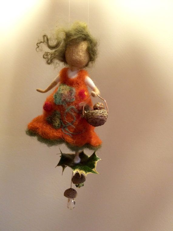 Aguja de fieltro Waldorf de hadas hadas de lana por DreamsLab3