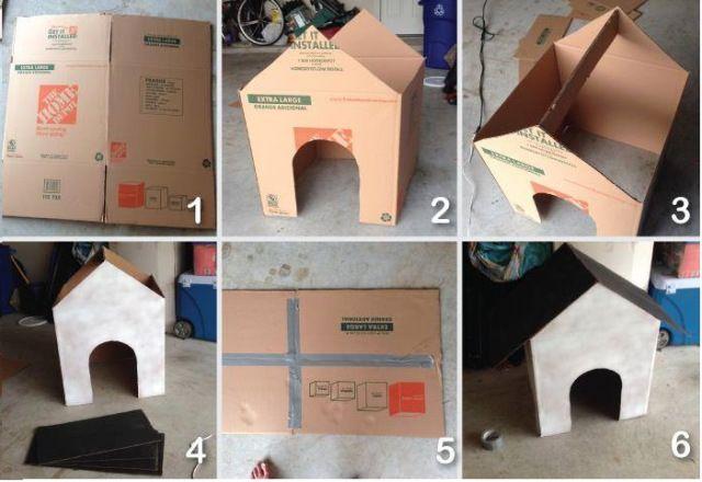 Casa de Carton Reciclable para Perros..