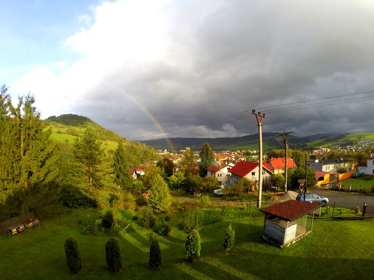 rainbow over country (Slovakia) on PicsSAE  http://picssae.com?social-gallery-image=rainbow-over-country