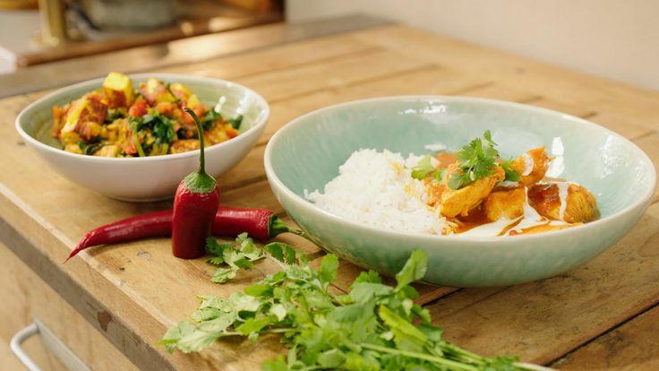 Madras curry met kip en saag paneer | Dagelijkse kost