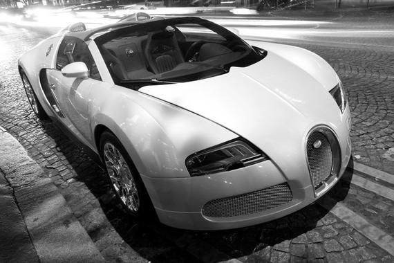 Poster of Bugatti Veyron Grand Sport Right Front Black and ...