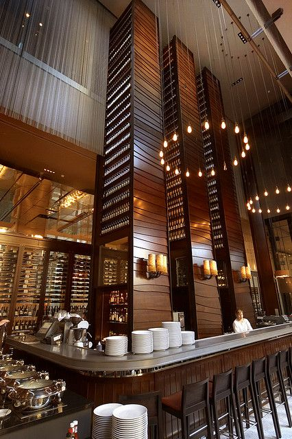 Cool architectural detailing at the bar. #bardesign #interiordetails #columns