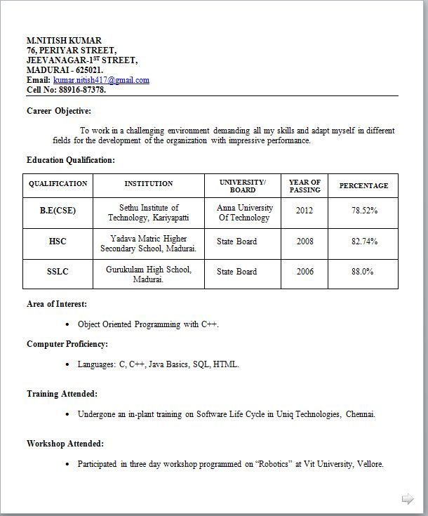 6+ teachers job resume format appeal leter