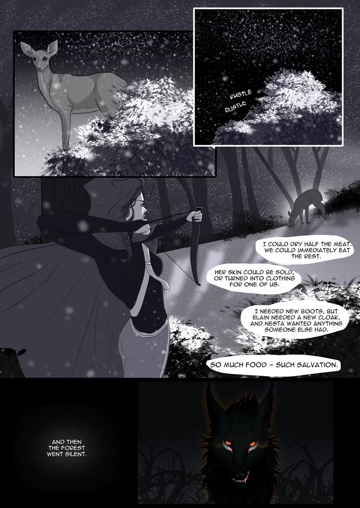 The first chapter of A Court of Thorns and Roses, manga-fied. Doing this just for fun, because I have a book hangover from the...