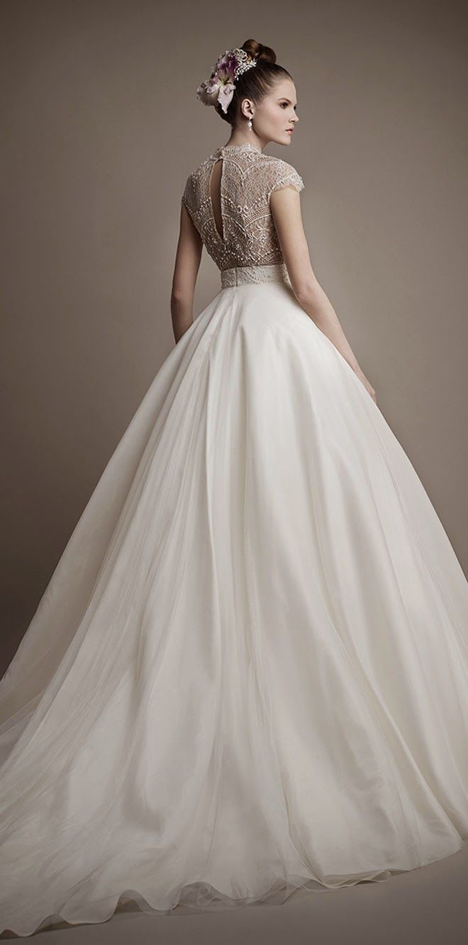 Vestido de novia corte princesa | bodatotal.com | wedding ideas, ideas para tu…