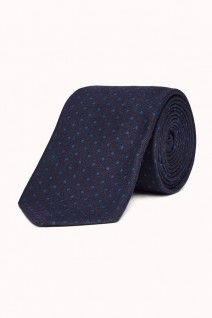 Look immaculate in the Loreti Navy Tie. Available from M.J.Bale.