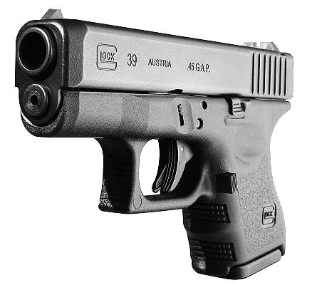 Glock 39 .45 GAP Semi Auto Pistol Save those thumbs & bucks w/ free shipping on this magloader I purchased mine http://www.amazon.com/shops/raeind   No more leaving the last round out because it is too hard to get in. And you will load them faster and easier, to maximize your shooting enjoyment.
