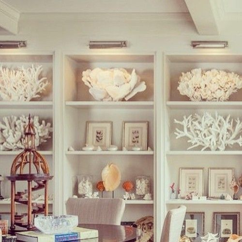 built-ins styled with shells