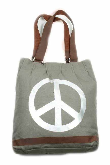 Tas Canvas Army Peace
