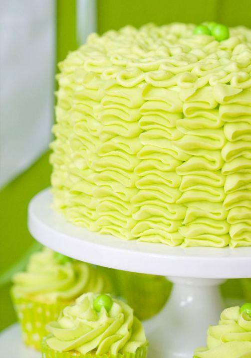 Bright Green Wedding Cake