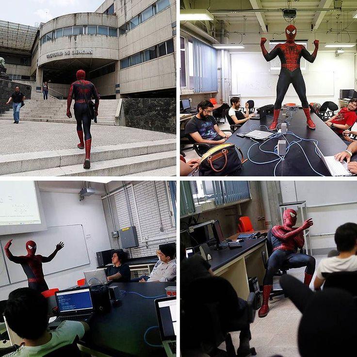 Meet the SpiderTeatcher! This is Moisés Vázquez a university professor from Mexico who decided to search new ways to get students interested! #bestTeatcherInTheWorld #spiderman . . . .  #marvel #marvelcomics #deguisement #deguisements #disfraz #disfraces #spidermancostume #costume #kostüm #kostuem #costumi #fato #Stroje #cosplay #spidermancosplay #teatcher #photooftheday
