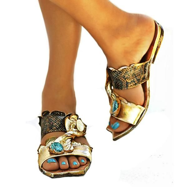 Iokasti 4 quadra - flat sandal
