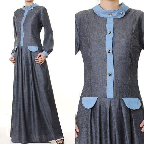 2382 Fashion Military Style Ladies Islamic Abaya by MissMode21, $30.00