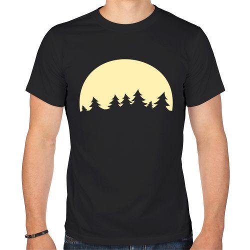 Мужская футболка Полная луна