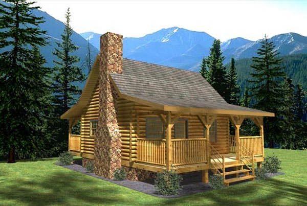 Monticello Tiny Log House by Honest Abe Log Homes, Inc. | Log home ...