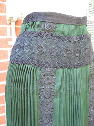 hungarian woman's folk costume pleated skirt detail