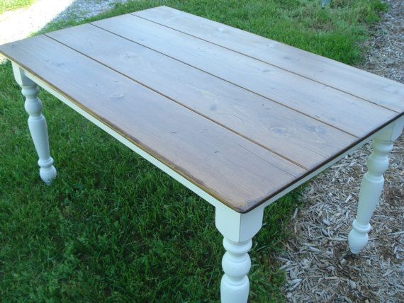 Farmhouse table kitchen table dining room table white table on etsy