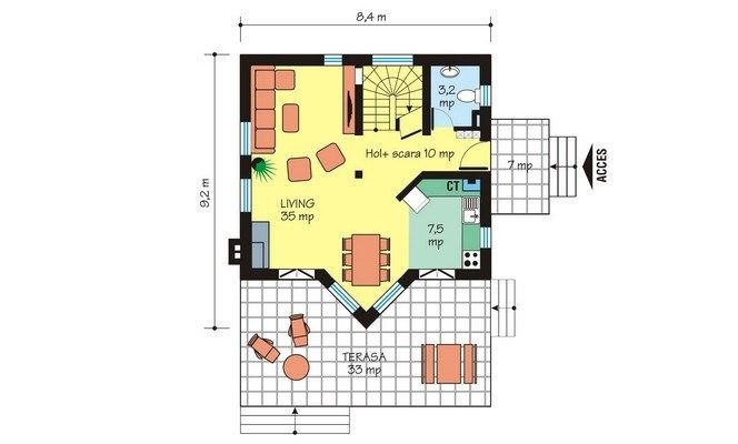 proiecte de case intre 100 si 160 de mp House plans under 160 square meters 3