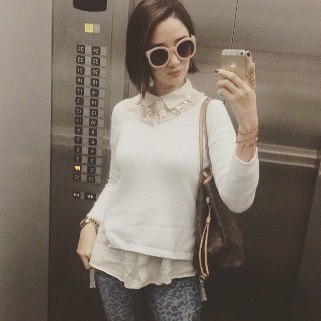 Look diario solcastao sol castaño blogger colombia maxi gafas