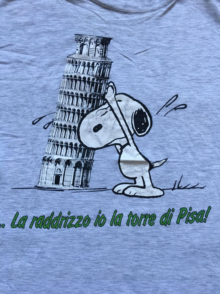 Excited to share the latest addition to my #etsy shop: Vintage Snoopy shirt-Pisa tower Italy http://etsy.me/2HINbp3 #clothing #shirt #gray #l #snoopy #peanuts #pisatower #italy #italia