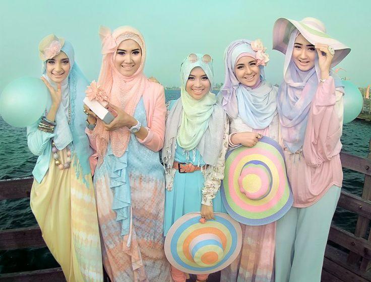 All pastel costume!