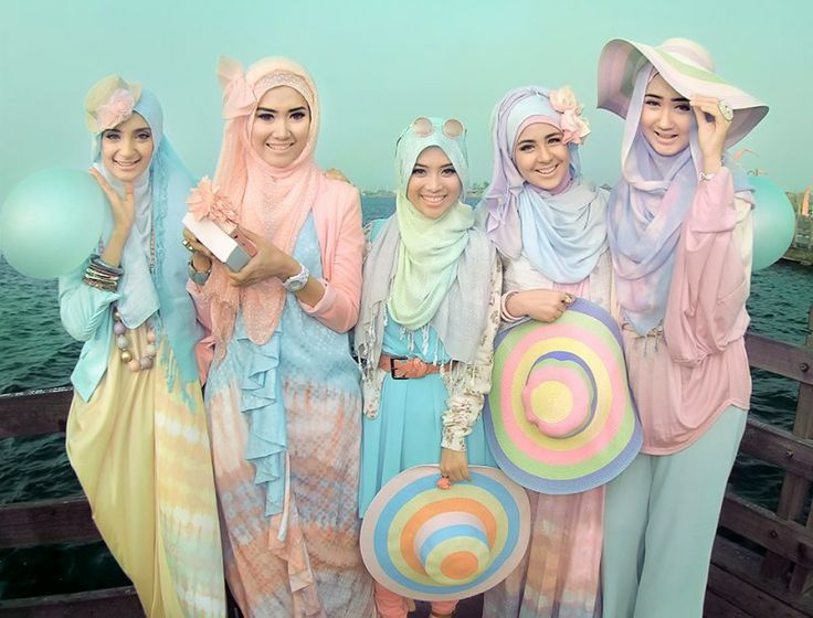 All pastel costume!