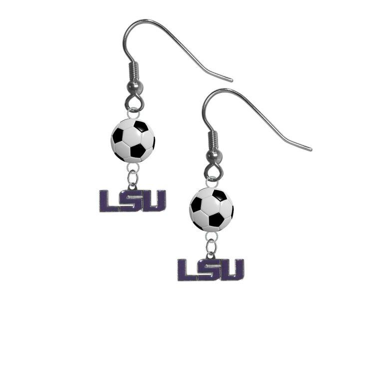 LSU Tigers Style 2 NCAA Soccer Dangle Earrings