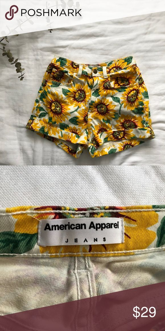 American apparel sunflower shorts Jean sunflower shorts from AP in perfect condition! American Apparel Shorts Jean Shorts