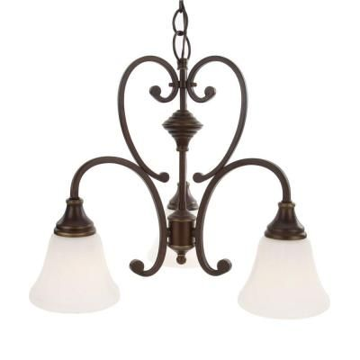 Hampton Bay Somerset 3 Light Bronze Chandelier