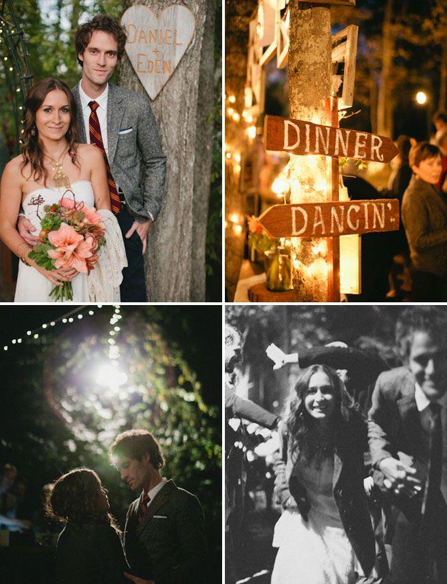 A Whimsical Wooded Backyard Wedding Eden