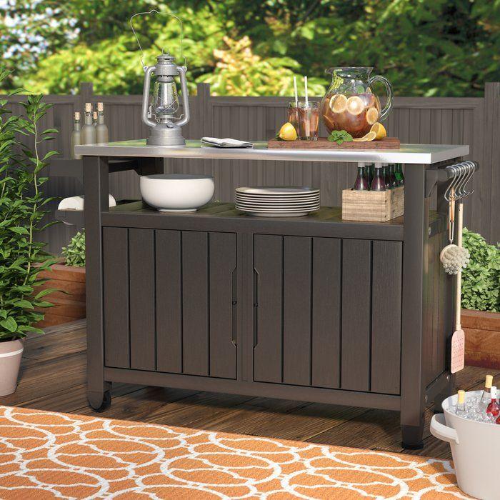 Cambron Caster Bar Serving Cart Bar Cart Decor Outdoor Buffet Tables Outdoor Serving Table