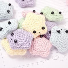 petites étoiles mignonnes crochet (facile a faire) amigurumi pattern gratuit free en français