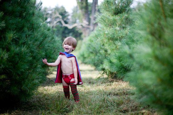 Children SUPER HERO for 18mn-4 year olds the shorty starter cape blank reversible Christmas gift, Holiday Gift, or Chanukah gift