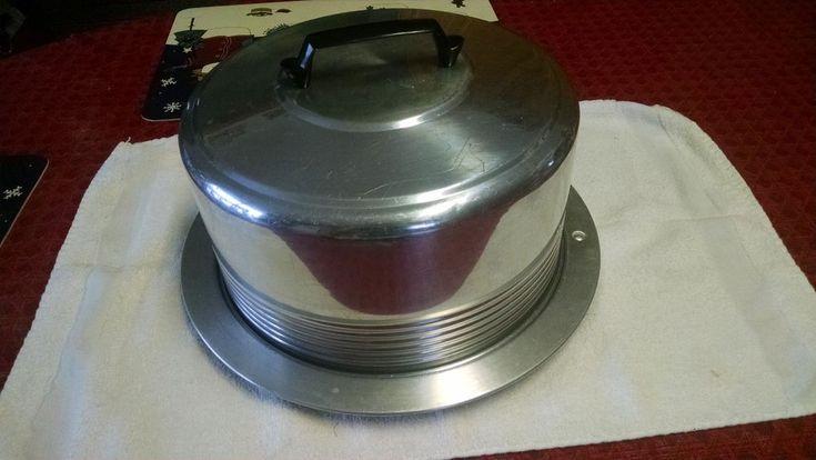 """vtg REGAL ALUMINUM LOCKING 11"""" cake carrier Cake carrier"""