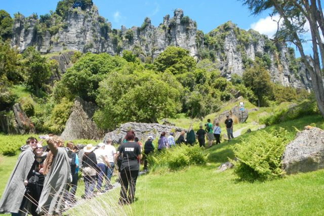 If you are an avid Tolkein Fan, a movie buff or interested in seeing amazing rock formations in beautiful native New Zealand forest, visit this stunning Denize Bluff farm at Piopio where Sir Peter Jackson filmed the Trollshaws Forest & scenes for The Hobbit: An Unexpected Journey. See why this site has the honour of being the biggest on-screen location and get to stand in the footsteps of the original actors while walking though amazing scenery.