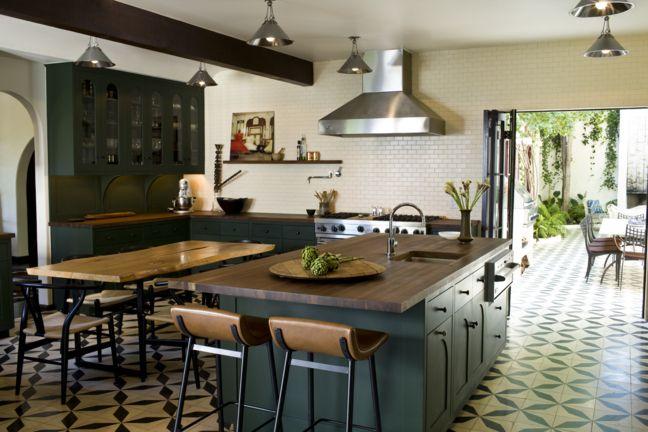Colors, floor, kitchen: Kitchens, Interior, Floor, Color, Indoor Outdoor, Subway Tile, House, Kitchen Ideas, Design