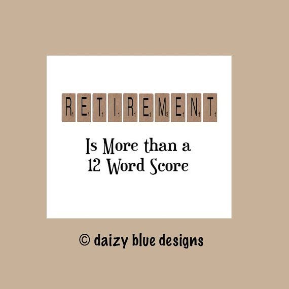 Retirement Card, Funny Retirement Card, Farewell Card, Scrabble, Scrabble Card