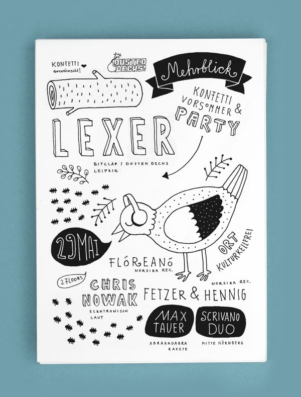 Eventflyer for Mehrblick by Alexandra Turban, via Behance
